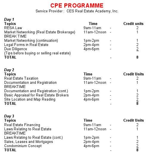 CPE Programme